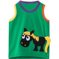 Cute Horse Appliqued Tank Top for Baby Boy