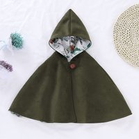 Fashionable Floral Hooded Cape