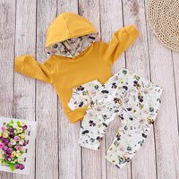 Sassy Floral Long-sleeve Hoodie and Pants Set
