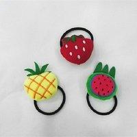 3-piece Cute Fruit Design Elastic Hair Ties for Girl