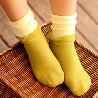 1-pair Sassy Color Blocked Loose Socks for Baby and Toddler Girl