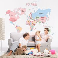 Removable world Map Wall Sticker