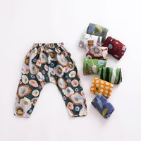 Breathable Cartoon Print Pants for Baby Girl