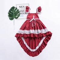 Baby/ Toddler Girl's Lace Flutter-sleeve Dress