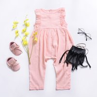 Baby/ Toddler Girl's Solid Jumpsuit
