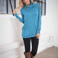 Stylish Pocket Long-sleeve Pullover