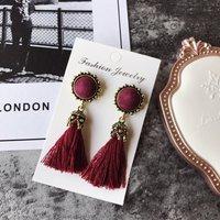 1-pair Vintage Tassel Earrings