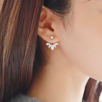 Beautiful Rhinestone Raindrop Design Earrings for Women