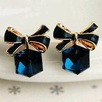 Trendy Geo Bowknot Decor Earrings