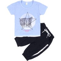 Stylish Star Print Short-sleeve Tee and Shorts Set for Toddler Boy and Boy