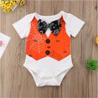 Cool Halloween Spider Web Design Bow Tie Decor bodysuit for Baby Boy