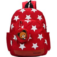 Lovely Star Print Backpack with Bear Coin Purse for Kid