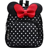 Lovely Dotted Bow Decor Backpack for Toddler Girl and Girl