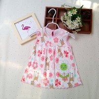 Lovely Patterned Embroider Decor Sleeveless Dress for Baby and Toddler Girl