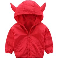 Stylish Shark Print Long-sleeve Hooded Coat for Baby and Kid