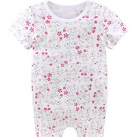 Pretty Floral Short-sleeve Romper for Baby Girl