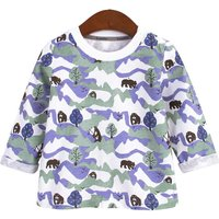 Trendy Bear Patterned Long-sleeve Top for Baby Boy and Boy