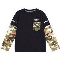 Faux-two Trendy Camouflage Long-sleeve Top for Kid