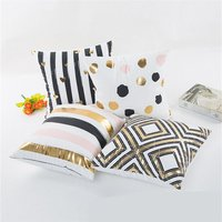 Stylish Gilding Patterned Pillow Case ( no pillow core )