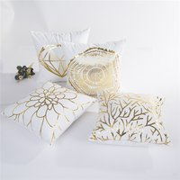 Trendy Golding Print Cushion Pillow Case ( No Pillow Core)