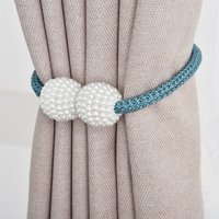 2-piece Simple Style Magnet Curtain Straps Curtain Accessories