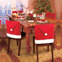 5 Pcs Christmas Hat Design Chair Cover