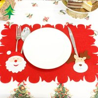 1 Pcs Jolly Santa Reindeer Table Mat