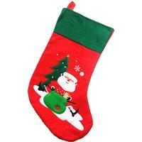 Stylish Christmas Sock Design Gift Bag Decor