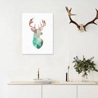 Stylish Reindeer Pattern Wall Decorative Oil Painting