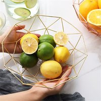 1 Pc Creative Iron Art Desktop Fruit Snacks Storage Basket-L