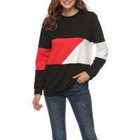 Trendy Color Block Long-sleeve Top
