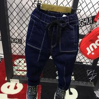 Fashionable Pocket Design Jeans