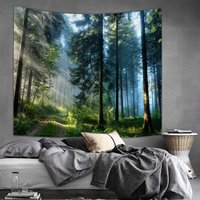 Forest Pattern Tapestry for Wall Decor