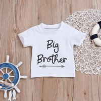 Casual Letter Print Short-sleeve Top for Baby