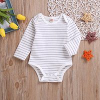 Comfy Striped Long-sleeve Bodysuit for Baby