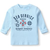 Trendy Letter Print Long-sleeve Top for Baby
