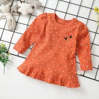 Comfy Star Allover Butterfly Embroider Long-sleeve Dress for Baby and Toddler Girl