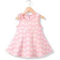 Sweet Heart Pattern Bow Decor Sleeveless Dress for Baby Girl