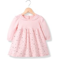 Trendy Star Print Lace Doll Collar Long-sleeve Dress for Baby and Toddler Girl
