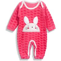 Lovely rabbit Embroidered Long-sleeve Jumpsuit for Baby Girl