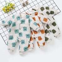 Lovely Allover Monster Fleece-lining Quilted Jumpsuit for Baby