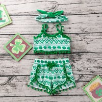 St. Patrick's Day  Geometric Patterns Baby Top and Short Set