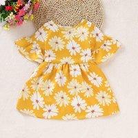 Flare-sleeve Daisy Dress