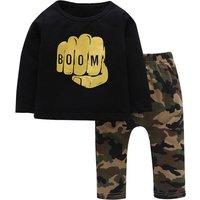Cool Boys Boom Long-sleeve Camouflage Set