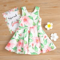 Pretty Floral Sleeveless Dress and Bodysuit for Toddler