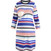 Stylish Striped Maternity Nursing Dress