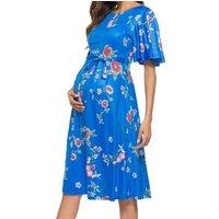 Maternity Floral Tie Short-sleeve Dress