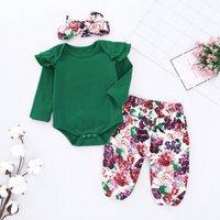 3-piece Ruffle Bodysuit Floral Set