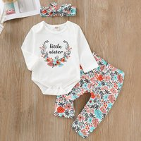 Little Sister Bodysuit Floral Set