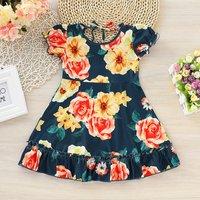 Latest Ruffle Floral Dress